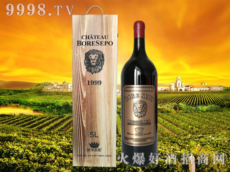 波尔圣堡干红葡萄酒狮王1999 5L