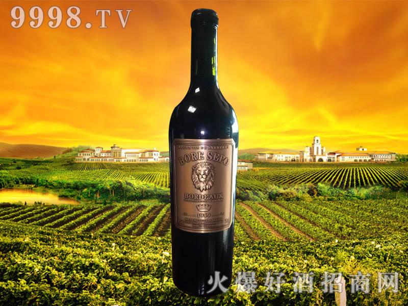 波尔圣堡干红葡萄酒狮王1999