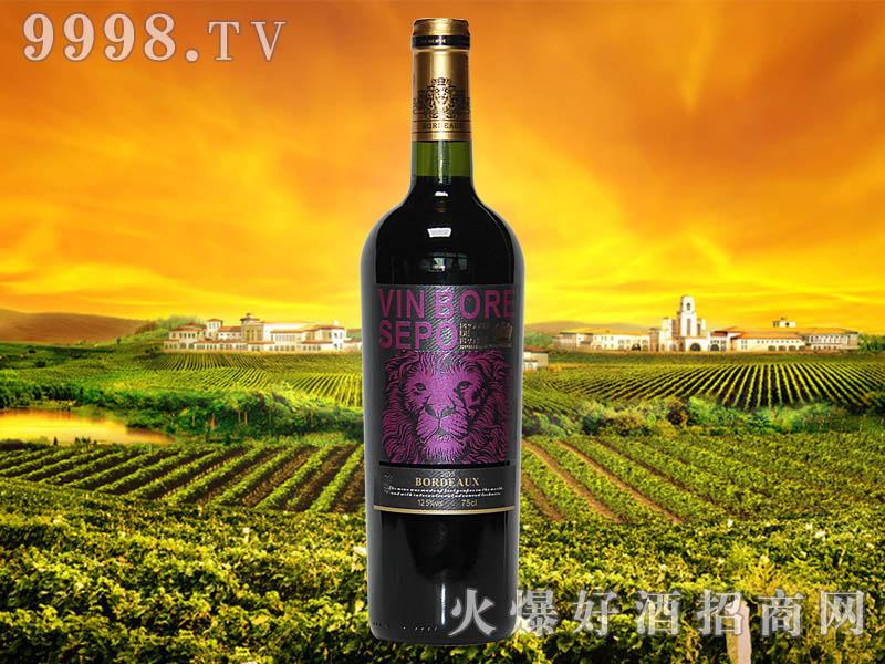 波尔圣堡干红葡萄酒狮王8号瓶2013