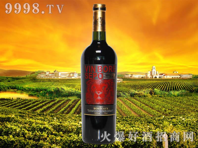 波尔圣堡干红葡萄酒狮王8号瓶2012