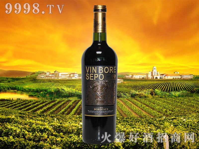 波尔圣堡干红葡萄酒狮王8号瓶2010