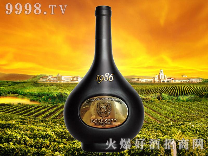 波尔圣堡干红葡萄酒1986 150cl(狮子头亮金)
