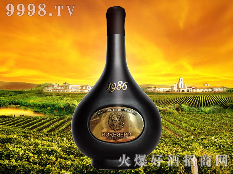 波尔圣堡干红葡萄酒1986 3L(狮子头亮金)