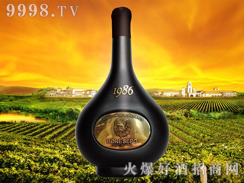 波尔圣堡干红葡萄酒1986 5L(狮子头亮金)