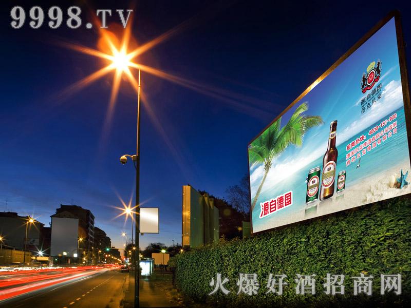 德国倍克贝克啤酒城市夜景广告