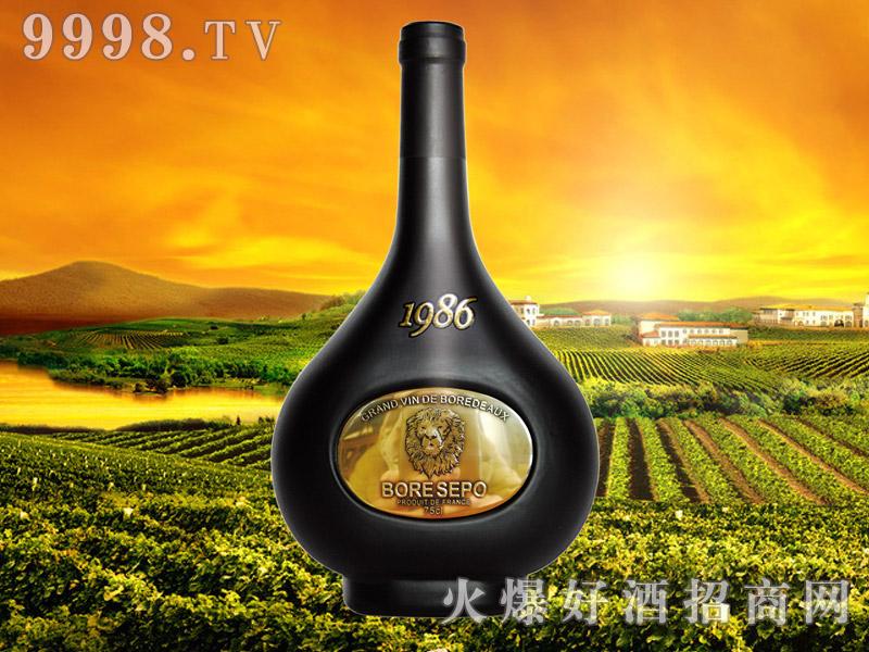 波尔圣堡干红葡萄酒1986-狮子头亮金750ml