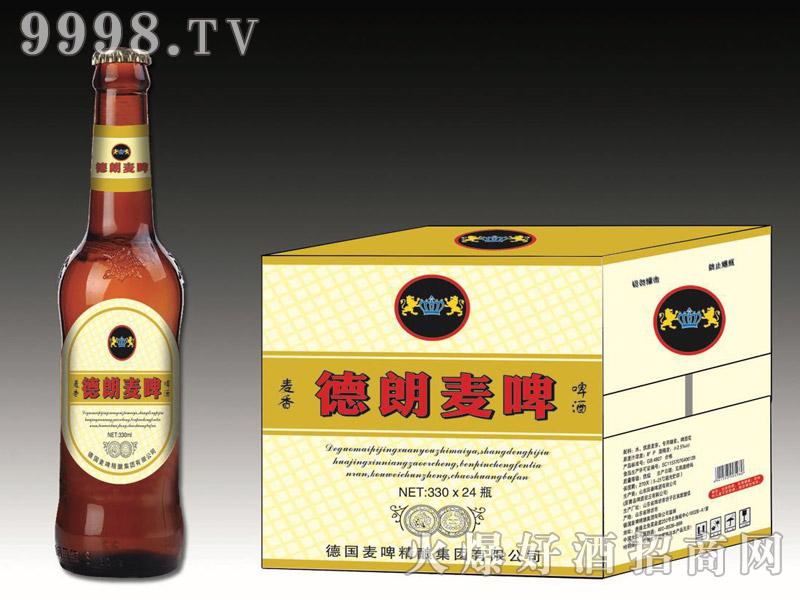 德朗麦啤・麦香啤酒330mlx24瓶(棕)