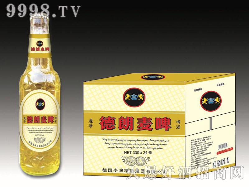 德朗麦啤・麦香啤酒330mlx24瓶(白)