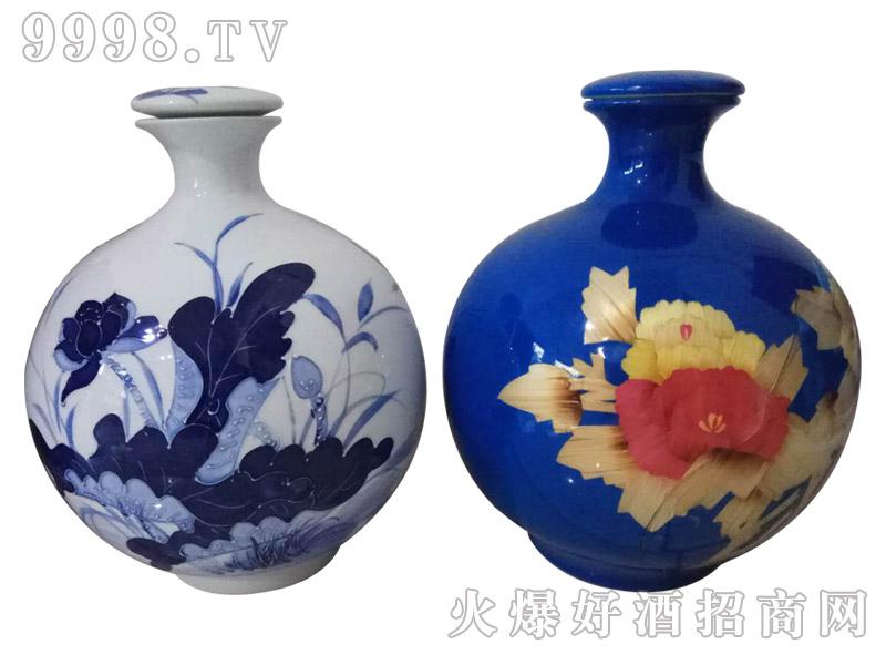 百年盛池原浆酒荷花瓶(定制酒)