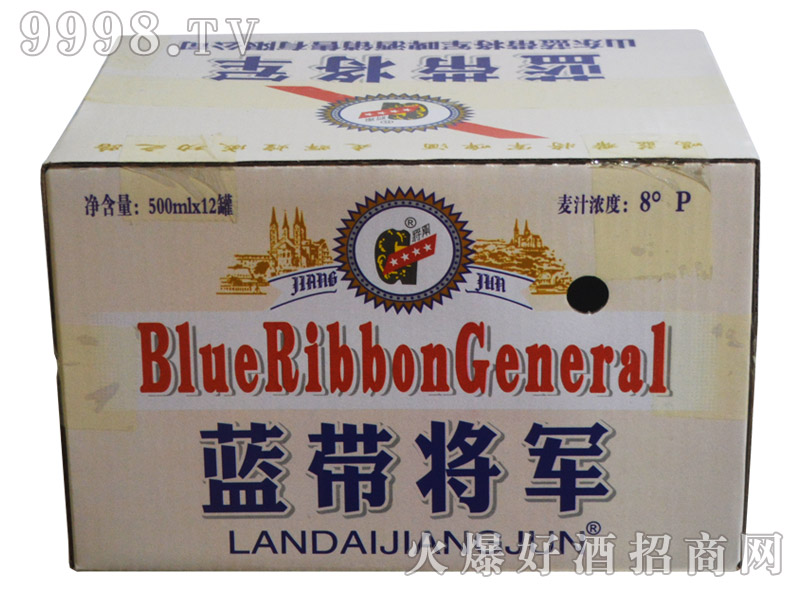 蓝带将军啤酒500ml×12罐(箱)