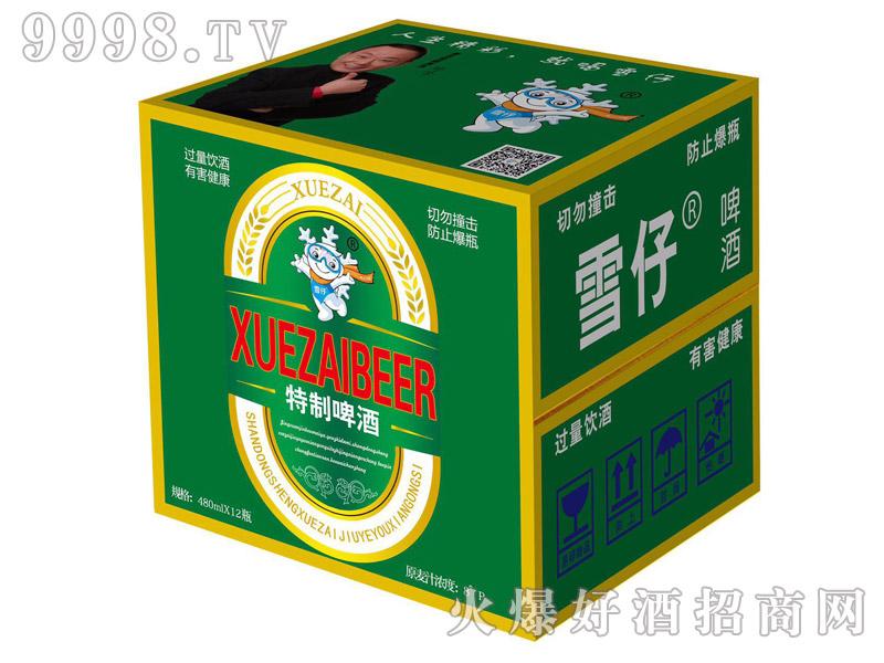 雪仔特制啤酒8度480mlx12瓶
