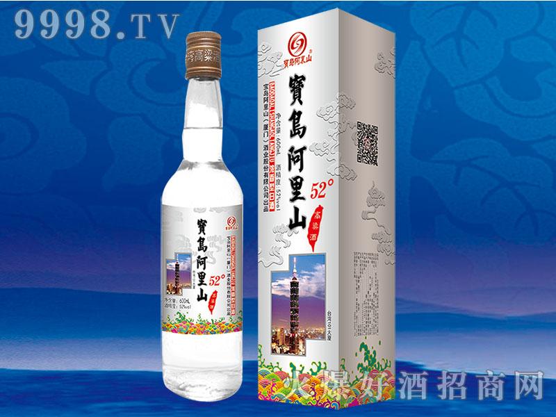 宝岛阿里山高粱酒52度600ml银盒