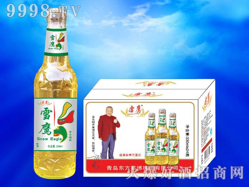 雪鹰脸谱经典白啤酒原浆330ml