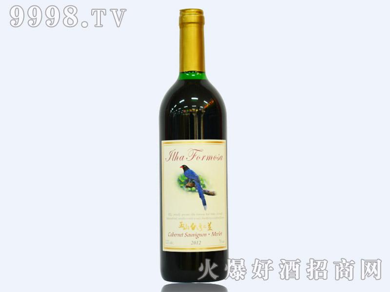 玉山台湾之美红葡萄酒(蓝鹊)12度750ml