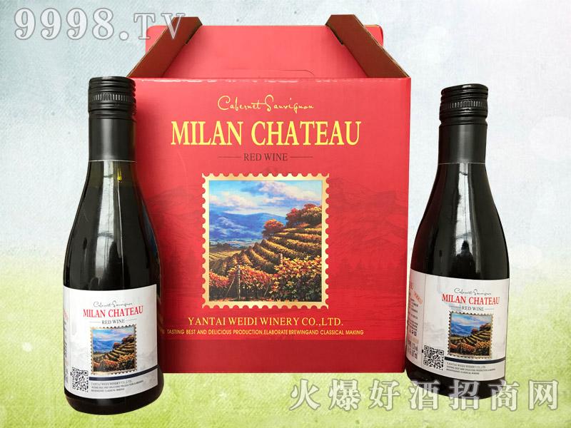 187小瓶干红葡萄酒双支礼盒
