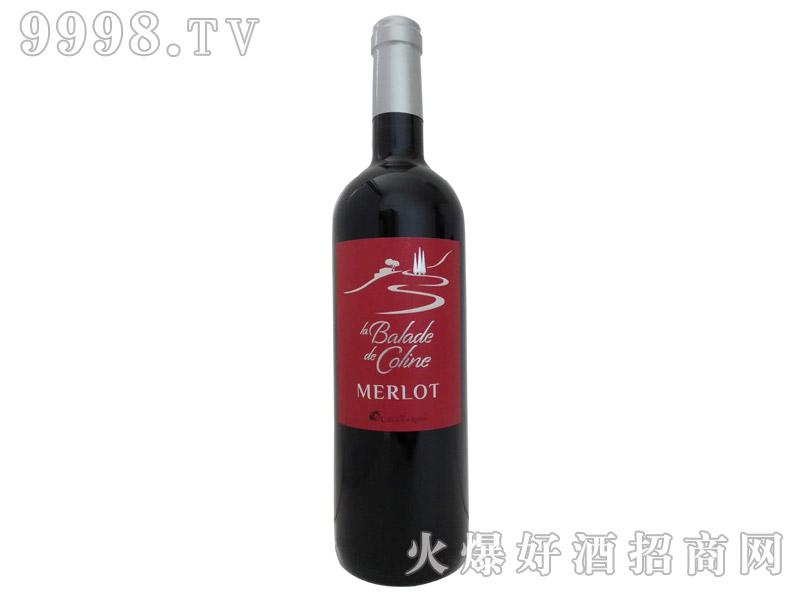 小山漫步梅洛红葡萄酒