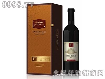 法国卡斯特艾莱美鄂尔多精选干红葡萄酒