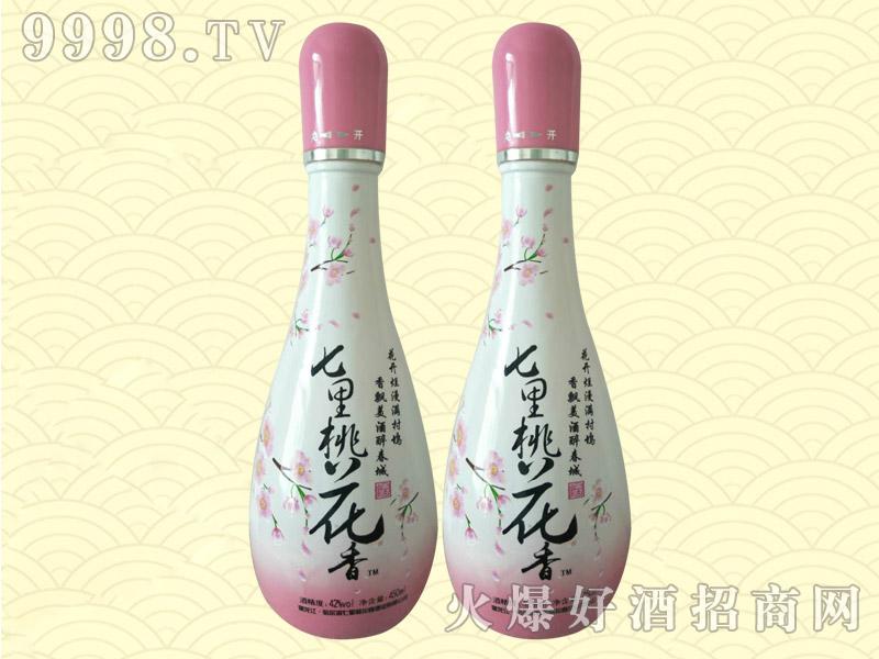 七里桃花香酒(瓷瓶)