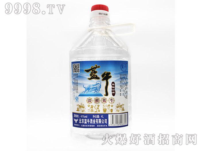 41°淡雅蓝牛陈酿白酒4L