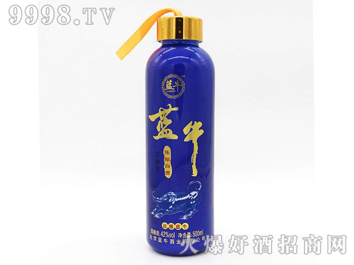 42°淡雅蓝牛陈酿白酒500ml(蓝瓶)