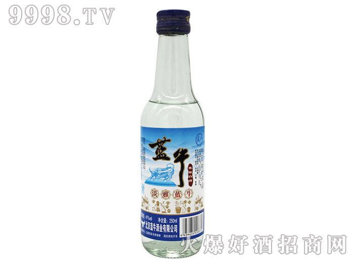 41°淡雅蓝牛陈酿光瓶酒250ml