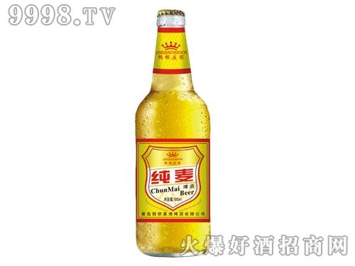鹊桥纯麦啤酒瓶装500ml