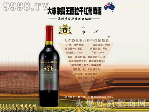 大赤袋鼠王西拉干红葡萄酒