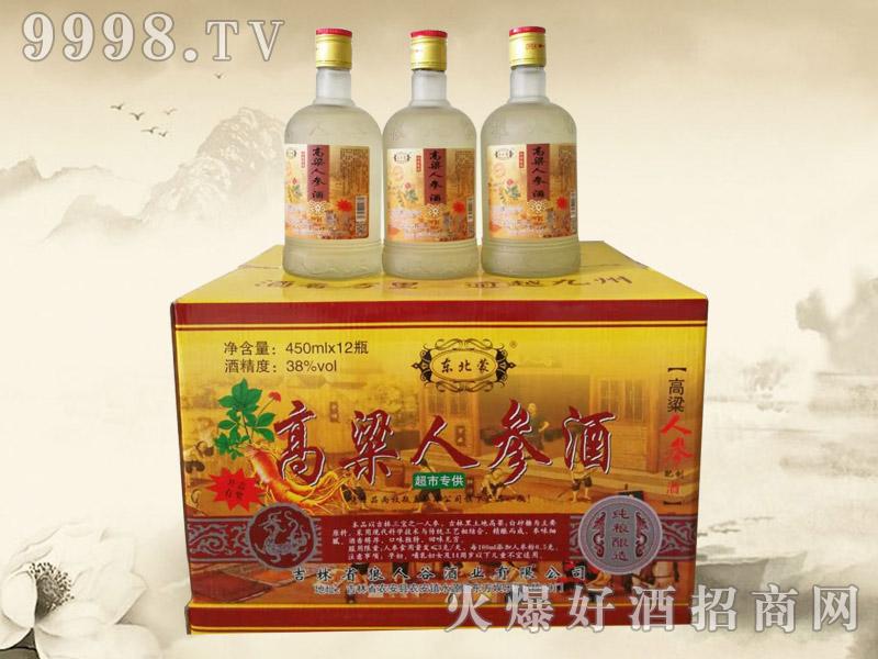 东北蒙高粱人参酒450ml(超市)