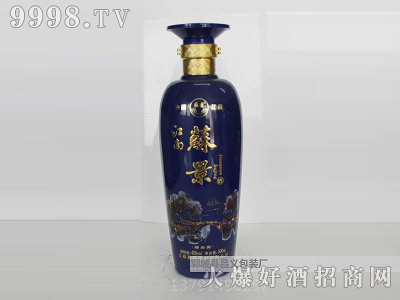 昌义彩瓶CY-016江南苏景酒(蓝)