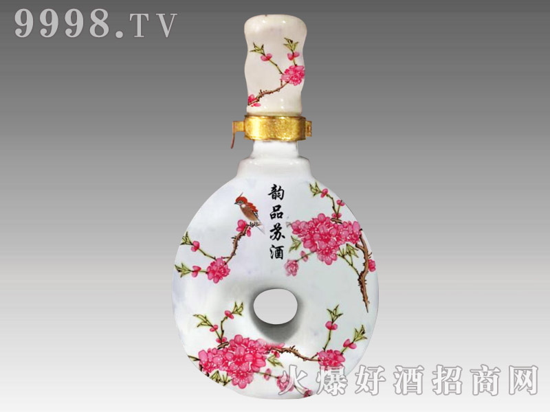 韵品苏酒红花瓷