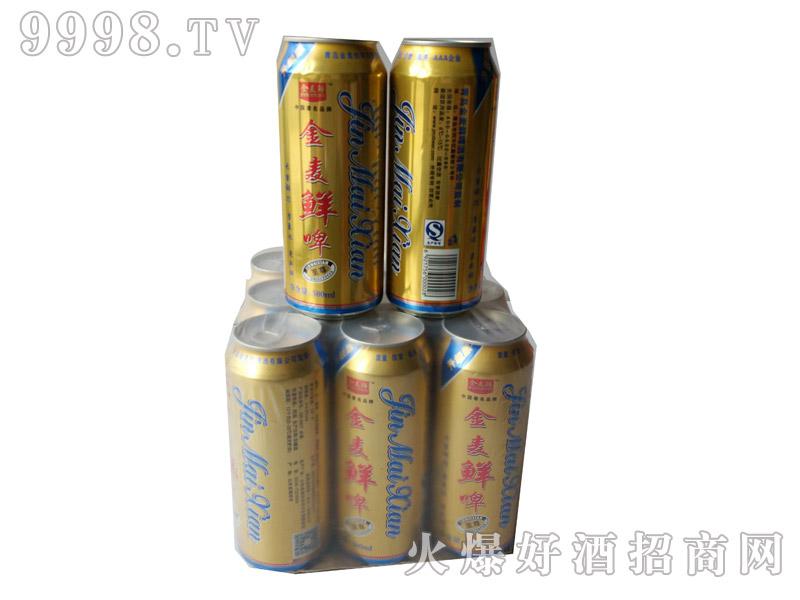 金麦鲜10度至尊啤酒500mlx9罐(塑包)