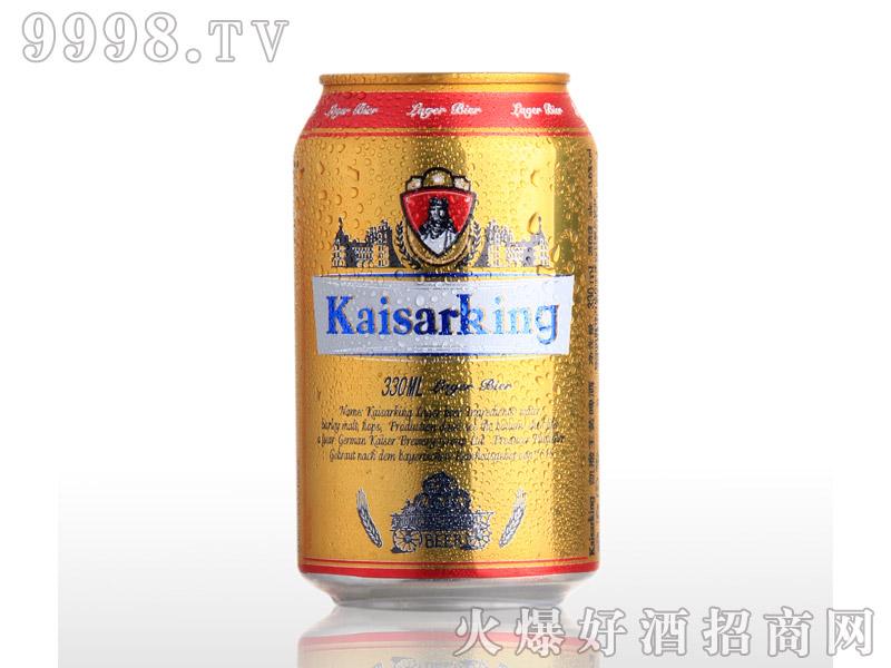 凯撒啤酒凯撒王330ml--黄啤