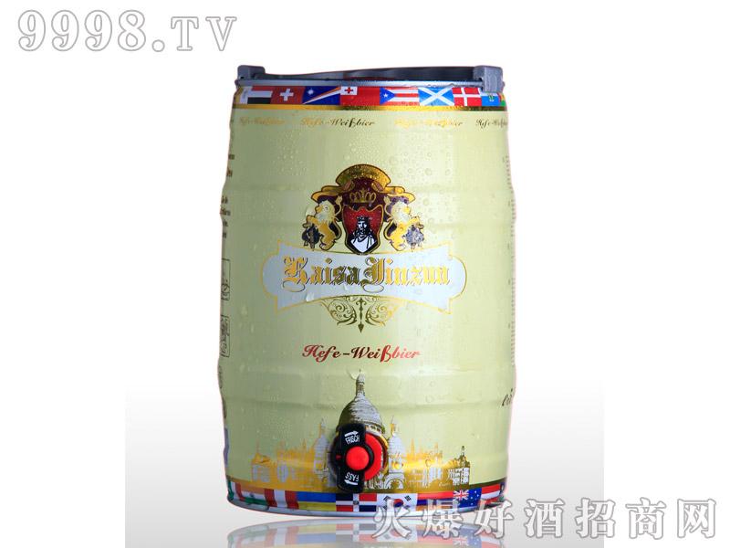 凯撒啤酒金樽5L--白啤