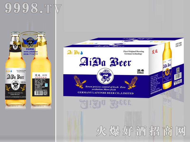 艾达啤酒10度330ml蓝标箱装