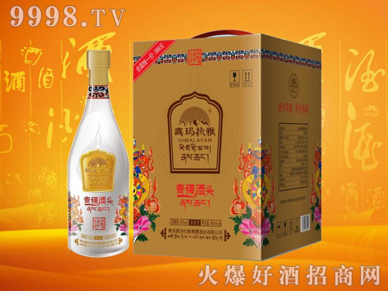 喜玛拉雅青稞酒头42度450mlx4瓶