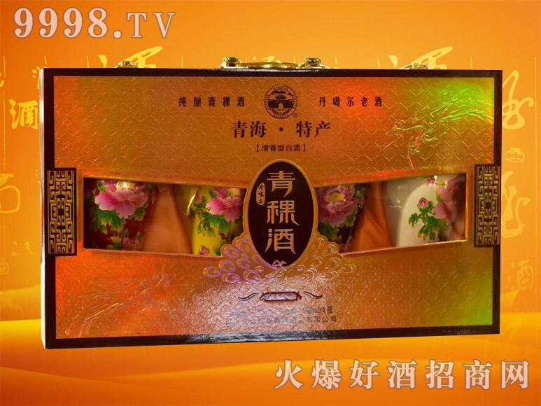 丹噶尔青稞酒富贵牡丹42度500mlx4瓶
