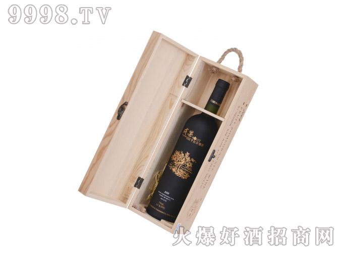 成果木盒干红石榴酒