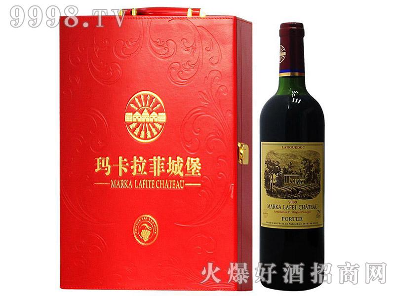 法国原装进口拉菲伯爵干红葡萄酒双支皮盒