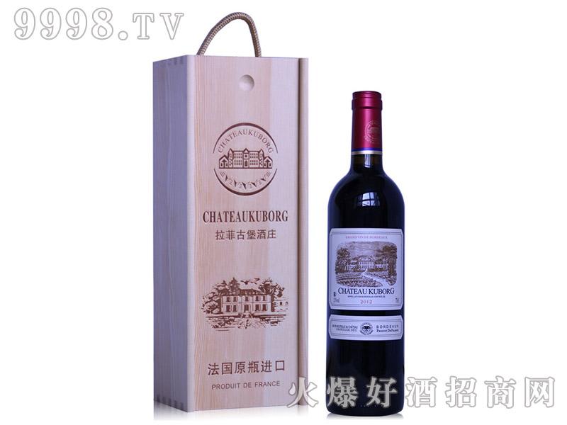 法国进口红酒木箱木盒拉菲古堡酒庄斯波朗干红葡萄酒13度
