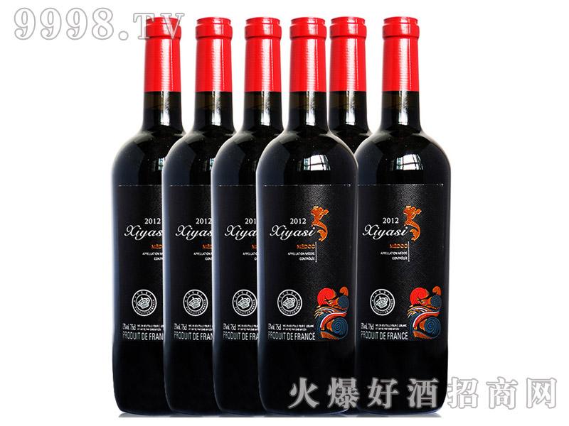 法国进口红酒茜娅丝梅多克干红葡萄酒13度