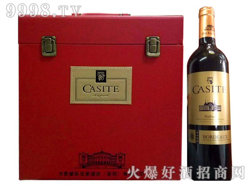 法国进口红酒卡思黛乐马尔贝克红皮箱干红葡萄酒