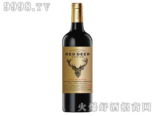 皇鹿驿站金选系列赤霞珠西拉子美乐(金标混酿)红葡萄酒