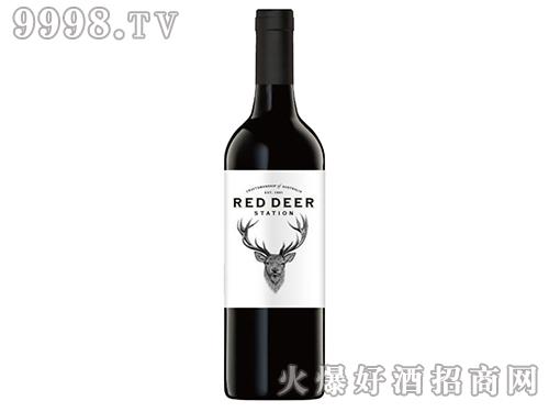 皇鹿驿站自然系列赤霞珠西拉子美乐(一星经典)红葡萄酒