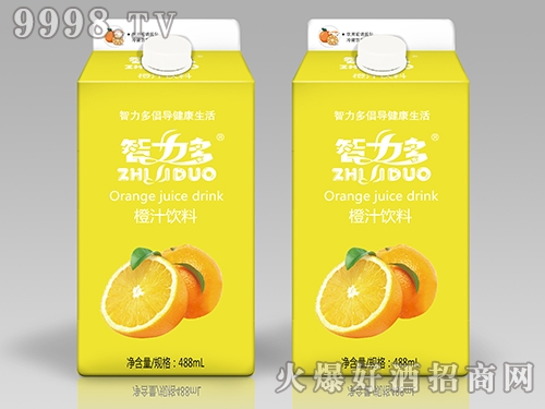 智力多橙汁饮料488ml