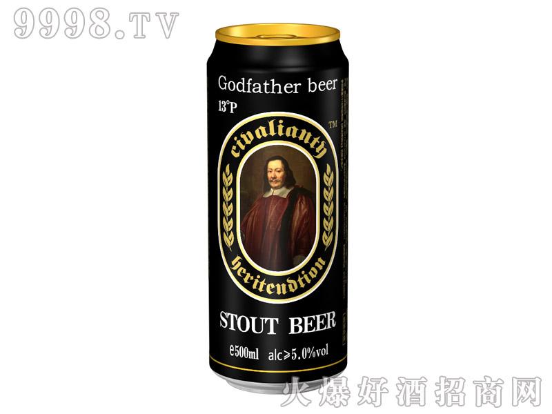 教父黑啤酒罐500ml