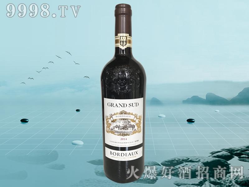 法国格兰苏波尔多干红葡萄酒