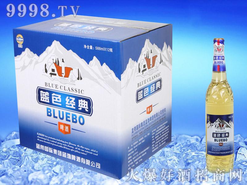 蓝带蓝色经典啤酒588ml纸箱