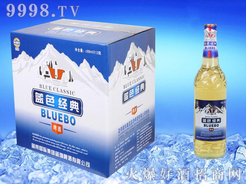 蓝带蓝色经典啤酒488ml纸箱
