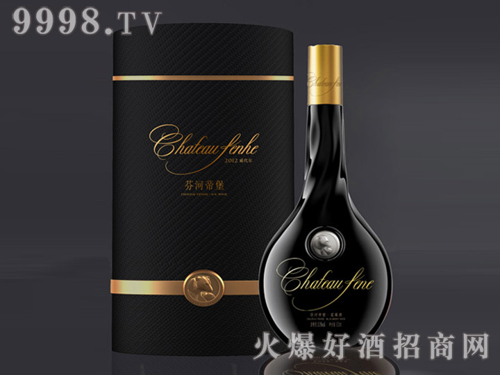 芬河帝堡水滴瓶蓝莓酒500ml