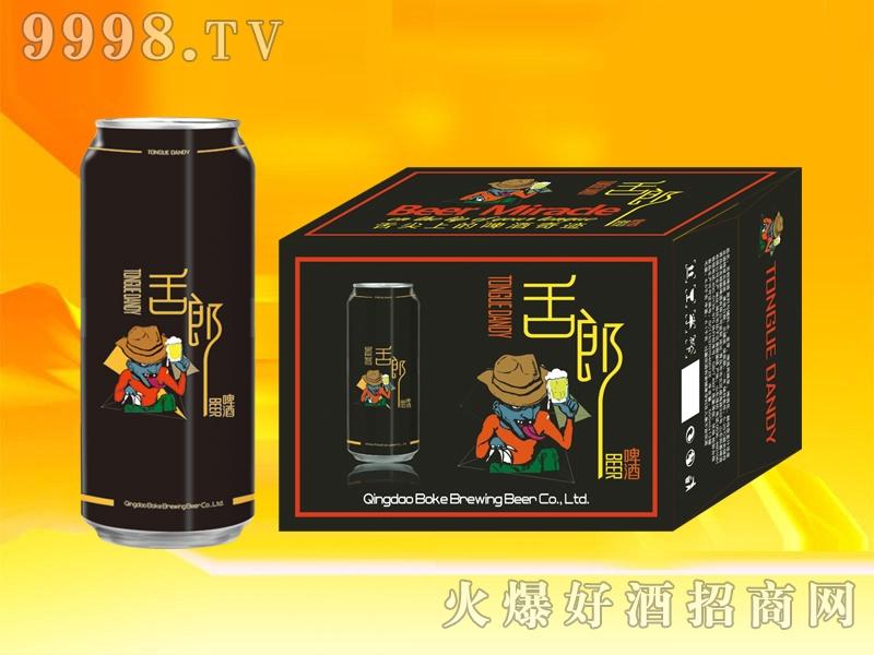 舌郎啤酒500ml黑罐